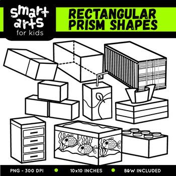 Rectangular Prism Shapes Clip Art