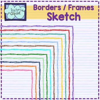 Rectangular Sketch Frames - borders Clip art