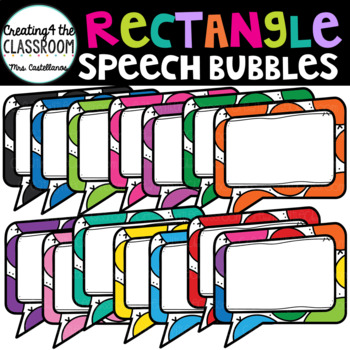 Rectangular Speech Bubbles {Speech Bubble Clip Art}
