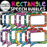 Rectangular Speech Bubbles {Speech Bubble Clip Art}