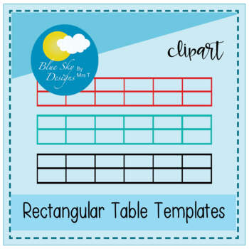 Rectangular Table Grids - Blank Clipart Pack (Commercial Use)