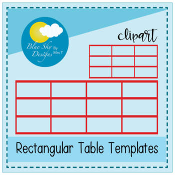 Rectangular Table Grids - Blank Clipart Pack (Commercial)