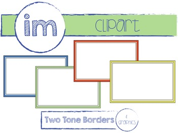 Rectangular Two Tone Borders Clipart (Commercial Use)