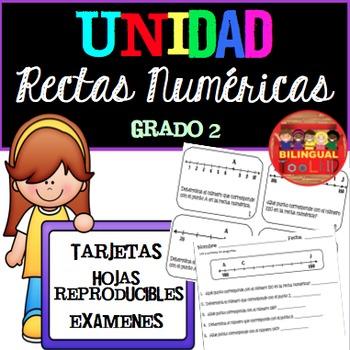 Unidad Rectas Numéricas Grado 2 / Number Lines in Spanish Grade 2