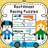 Rectilinear Area and Perimeter Game Puzzle Find Areas of Composite Figure 3.MD.7