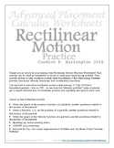Rectilinear Motion Practice Worksheet with Solutions