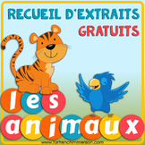 Recueil d'extraits gratuits   French Sampler ANIMALS: tips and links to freebies