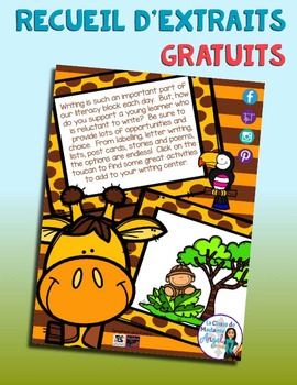 Recueil d'extraits gratuits | French Sampler ANIMALS: tips and links to freebies