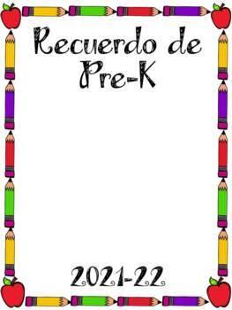 Recuerdo de Pre-Kindergarten