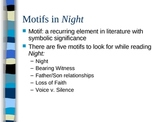 Themes and Motifs in Night by Elie Wiesel - PowerPoint Presentation