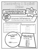 Recursive/Explicit Rule Doodle Notes