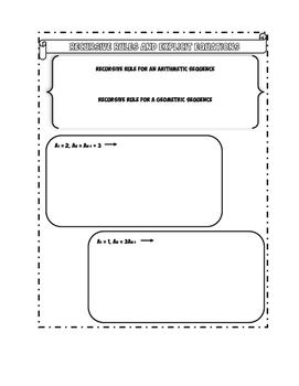 Recursive Rules Doodle Notes