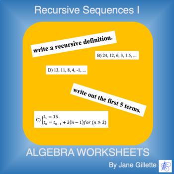 Recursive Sequences I