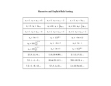 Recursive and Explicit Rule Sorting Activity