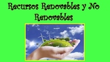 Recursos Renovables y No Renovables- Renewable and Non Renewable Resources