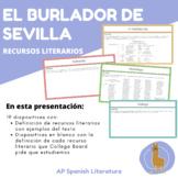 """Recursos literarios: """"El burlador de Sevilla y el convidado de piedra"""""""