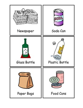 Recyclable Items Words
