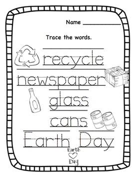 Preschool Bundle Recyclable Printable