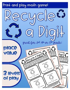 Recycle A Digit Math Game