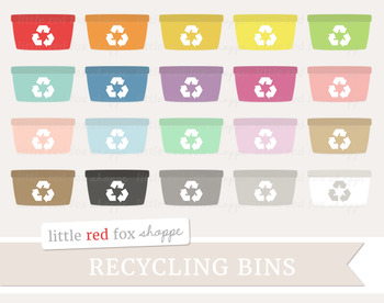 Recycle Bin Clipart; Recycling, Eco Friendly, Trash