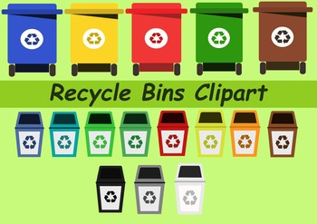 Recycle Bins Clipart