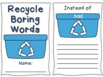 Recycle Boring Words Writing Thesaurus