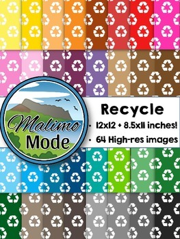 Recycle - Digital Papers Package (12x12 AND 8.5x11 inches)