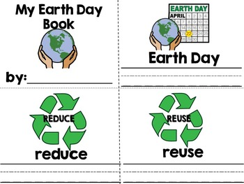 Recycle It for Earth Day Interactive Adaped Book Special Education, Autism, SLP