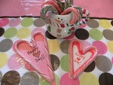 Recycle Left Over Candy Canes for Valentine Day Crafts and Cards and Gifts