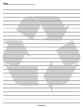 Recycle Lined Paper