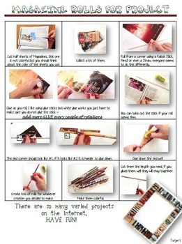 Recycle Magazine Rolls How-to