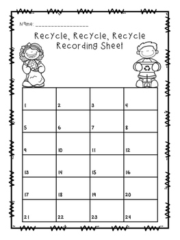 Recycle, Recycle, Recycle! {Comparing 2 digit numbers}
