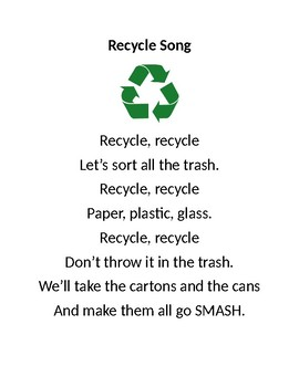 Recycle Song Printable