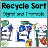 Recycle Sort  DIGITAL AND PRINTABLE