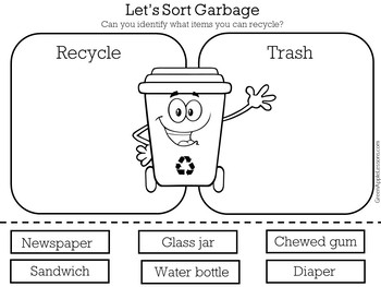 Recycle Sorting Activity | Recycling Activity | Recycling Sort