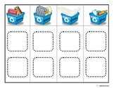 """Recycle"" Sorting Board/ Matching Picture Choices for Autism"