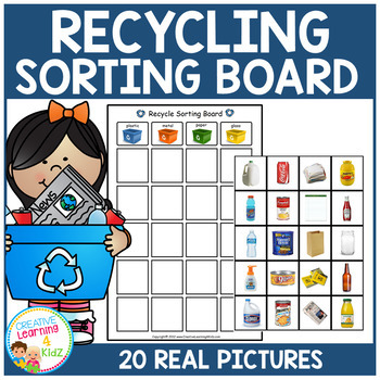 Recycling Sorting Board Earth Day