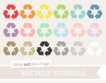 Recycle Symbol Clipart; Eco Friendly, Environment, Green