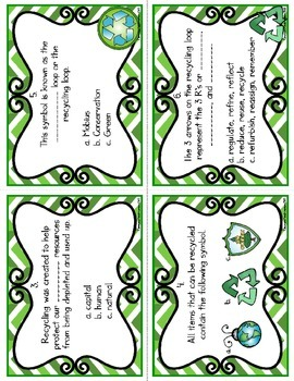 Recycle Task Cards