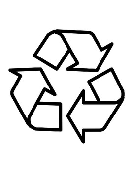 recycle template recycling symbol template recycle symbol outline
