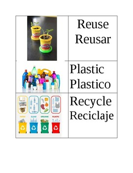 Recycle Vocabulary words