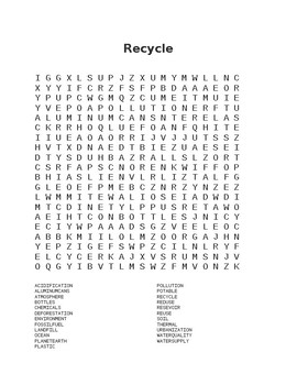 Recycle Wordsearch
