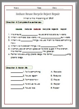 Recycle Worksheet G.3-6