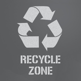 Recycle Zone Sticker