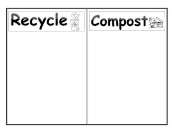 Recycle and Compost Sorting Worksheet