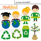 Recycle and Go Green Clip Art Bundle