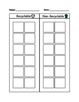 Recycle v. Ron-Recycle Worksheet