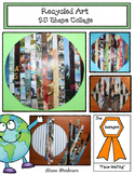 Recycled Art: 2D Shape Craft (Fun for Earth Day!)