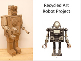 Recycled Art Junk Robot Presentation