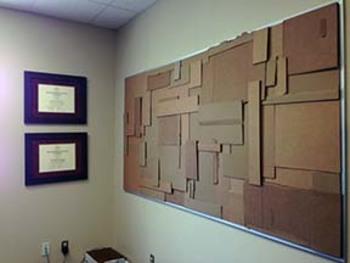 Recycled Cardboard Bulletin Board